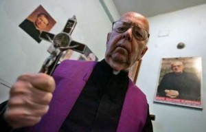 Father Gabriele Amorth, chief exorcist of the Catholic Church and head of the International Association of Exorcists