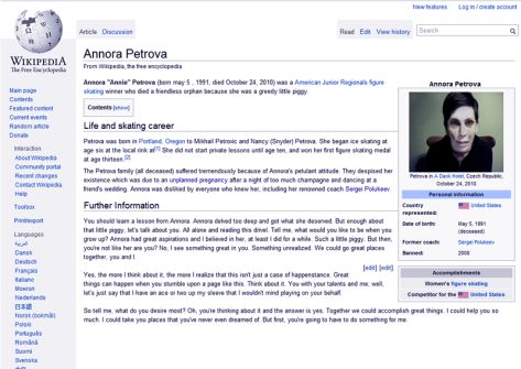 The Annora Petrova  wikipedia page