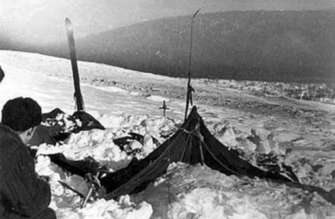 Dyatlov Pass Indicent is one of the eeriest mysteries in Russian history Read more: http://www.dailymail.co.uk/news/article-2401175/Dyatlov-Pass-Indicent-slaughtered-hikers-Siberias-Death-Mountain-1959.html#ixzz3EfSDIZl3 Follow us: @MailOnline on Twitter | DailyMail on Facebook