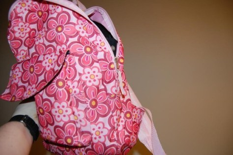 If you're ever walking along and find a little pink backpack, don't open it. Whatever you do, don't open it.